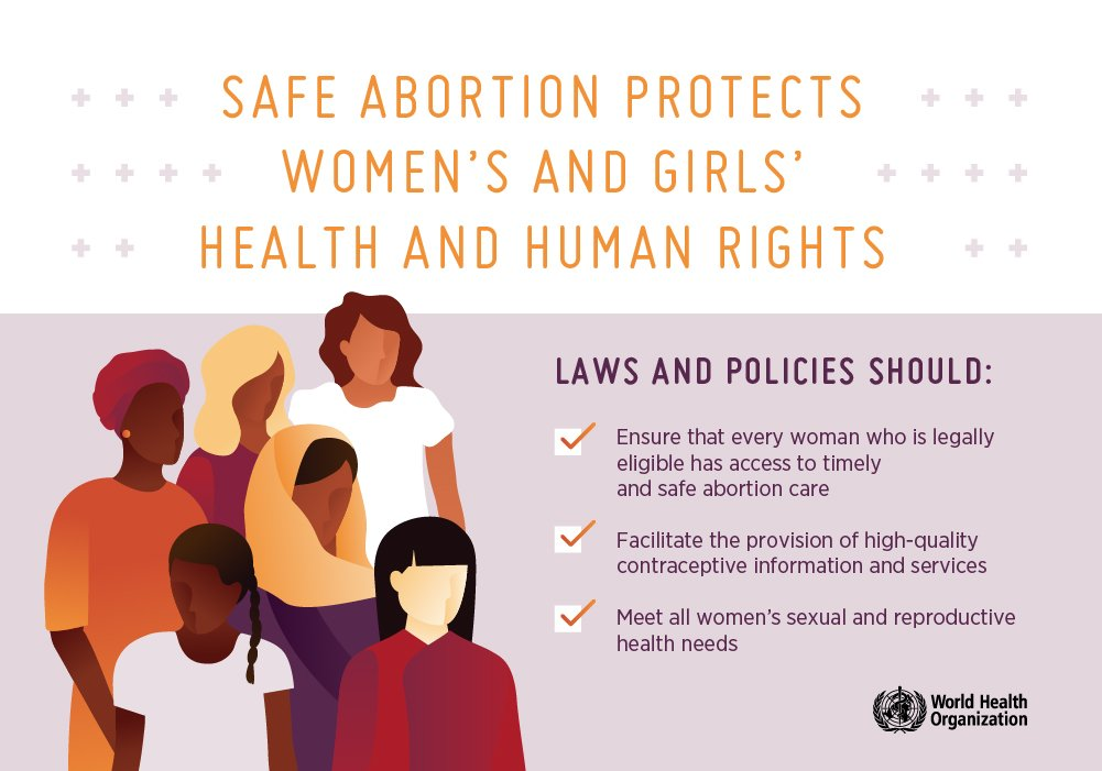 Safe abortion protects women's and girl's #health and #HumanRights @WHO @HRPresearch #SRHR