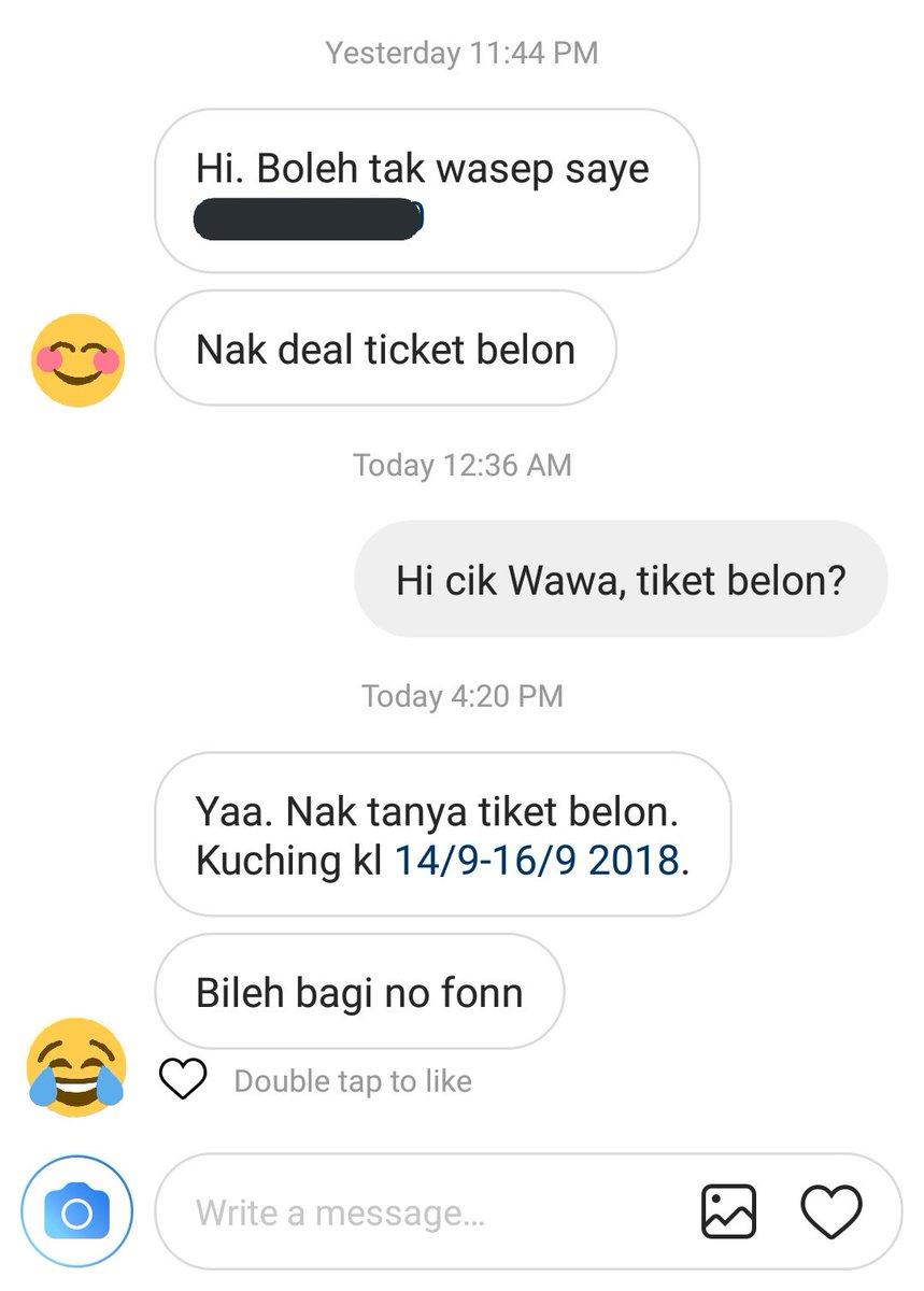 Pemburu Tiket Murah على تويتر Ada Followers Kami Pm Di Instagram