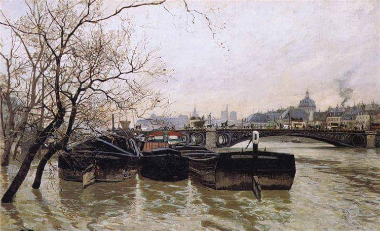 #HistoryofPainting  Frits Thaulow (Christiania, 20 October 1847 – Volendam, 5 November 1906) was a Norwegian Impressionist painter, best known for his naturalistic depictions of landscape.  Flooding by the Seine, 1893  Private Collection  Beauty in #Art<br>http://pic.twitter.com/H4iI5vZtxv
