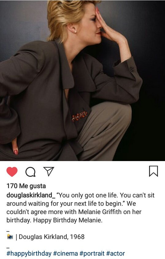 Regram Douglas Kirkland on IG&quot;We can could&#39;n agree more with Melanie Griffith on her birthday&quot;. Happy Birthday Melanie <br>http://pic.twitter.com/eWRA8wFXtA