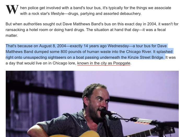 just reading up on this Dave Matthews controversy