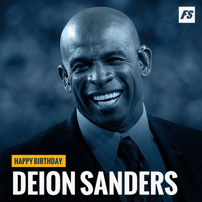 Happy birthday to pro football Hall of Famer and sports analyst Deion Sanders (
