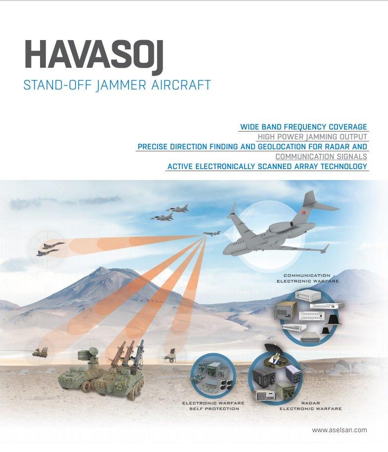 عقد لصالح شركة Aselsan لبناء وتطوير 4 طائرات حرب الكترونيه نوع Hava SOJ لصالح سلاح الجو التركي  DkK4oyWX0AE7dqw