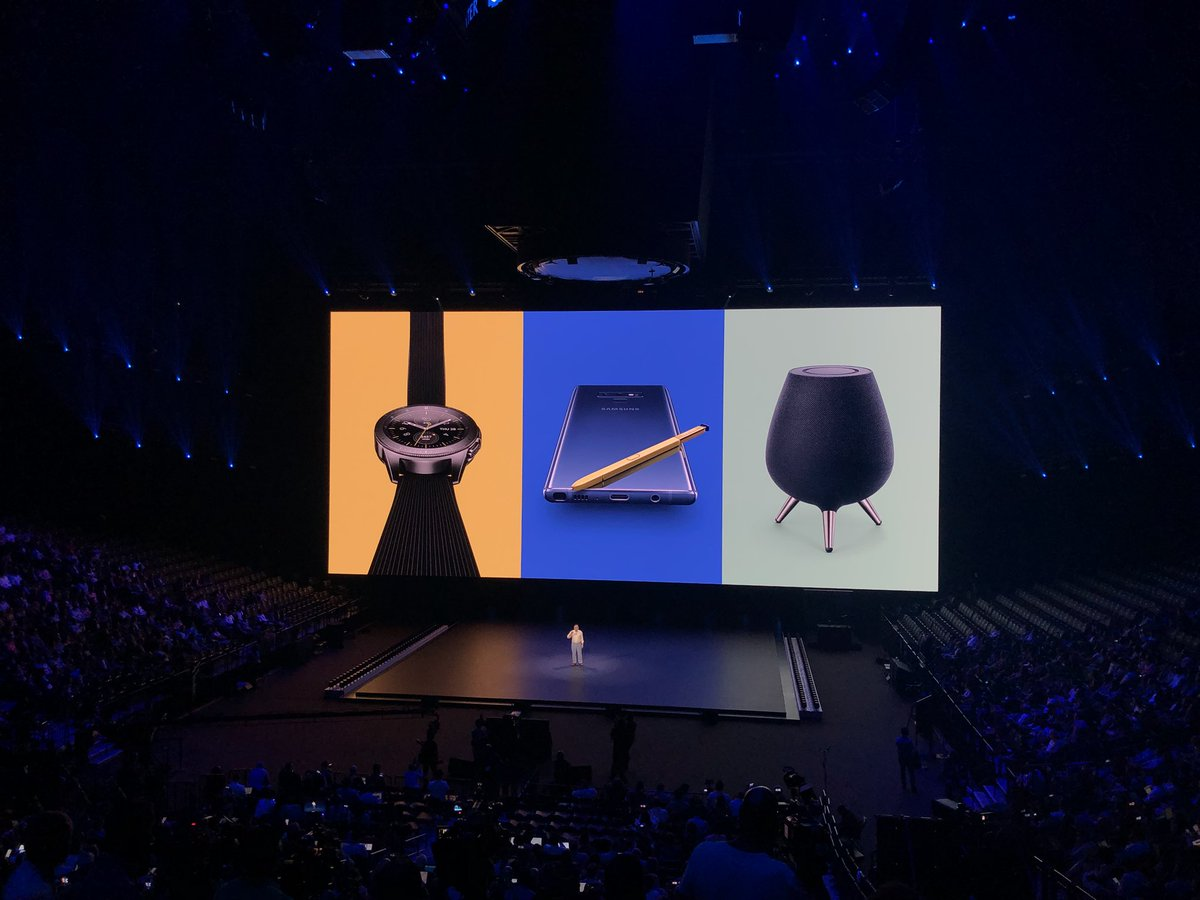 And that's it, folks. 3 new devices from @Samsung: Note 9, Galaxy Watch and Galaxy Home #Unpacked2018 <br>http://pic.twitter.com/k1HKSm18FJ