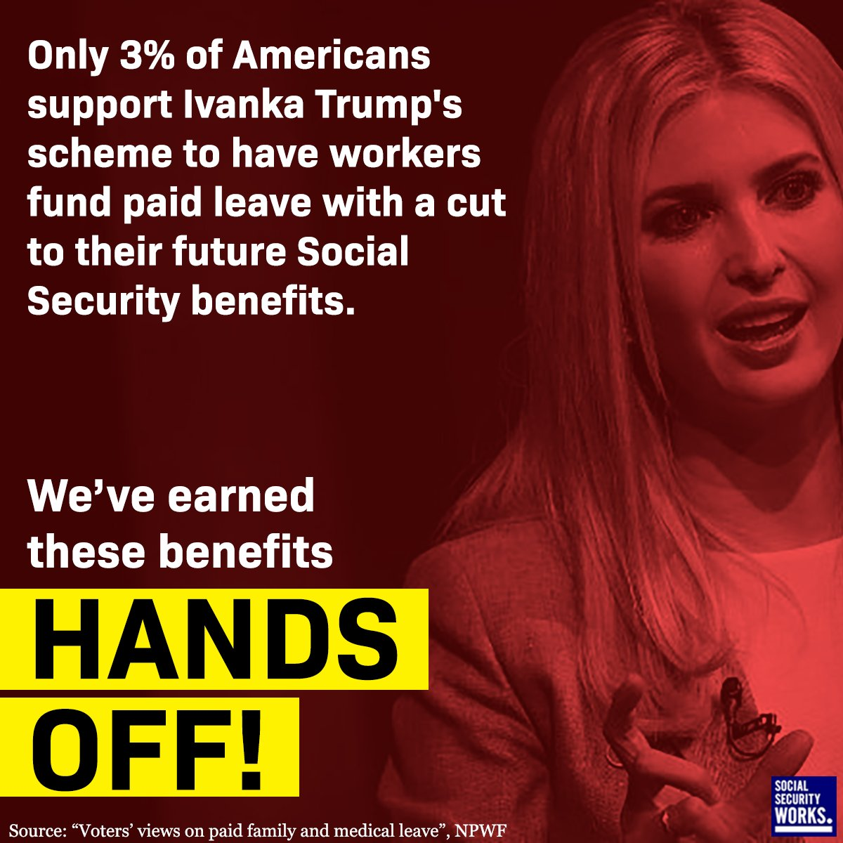 The Rubio-Ivanka scheme isn&#39;t a #RealPaidLeave plan. It&#39;s a Social Security cut - and the American people aren&#39;t fooled. <br>http://pic.twitter.com/CZ4Cvy9sje