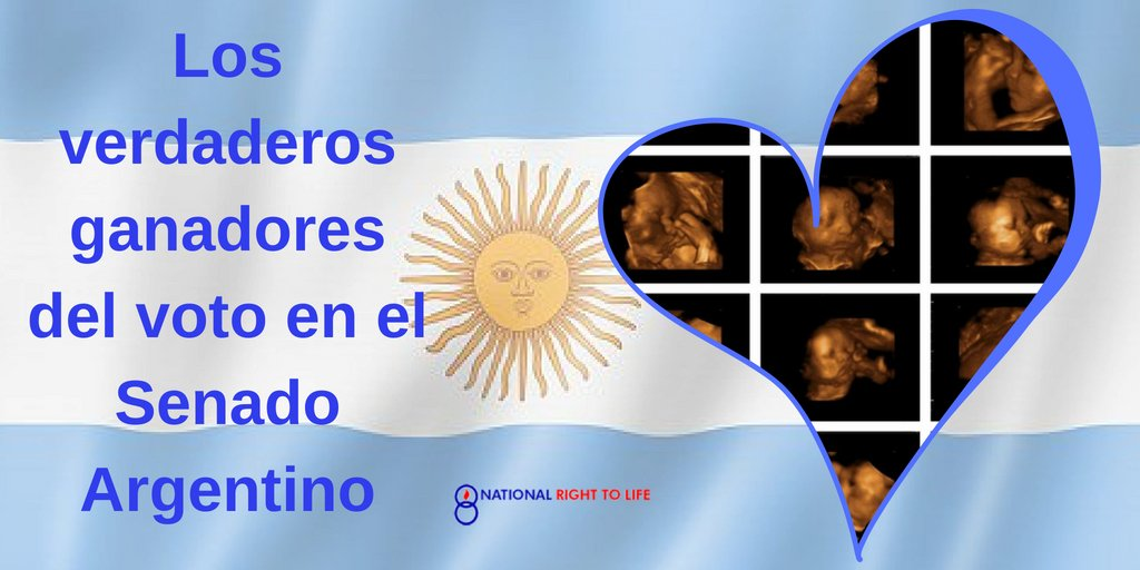 Retweeted Right to Life (@nrlc):  The real winners of last night&#39;s vote in the Argentine Senate. #ArgentinaDefiendeLaVida #AbortoLegalYa = Muerte. <br>http://pic.twitter.com/uovEqeFUo0