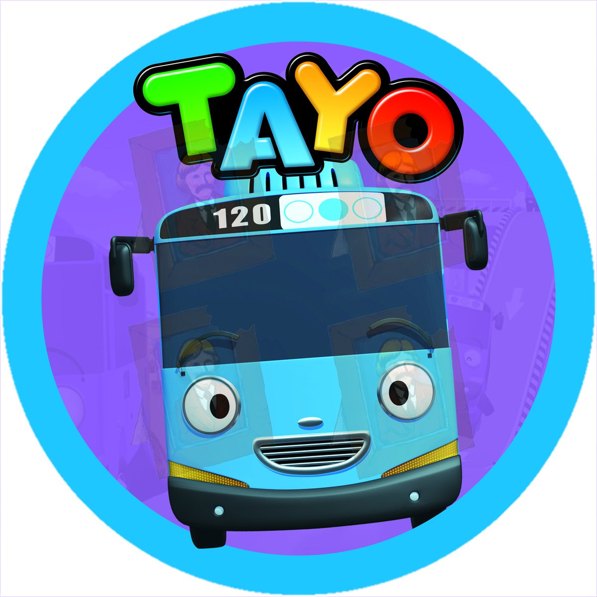 Tayo the little bus edible photo cake topper design now ...
