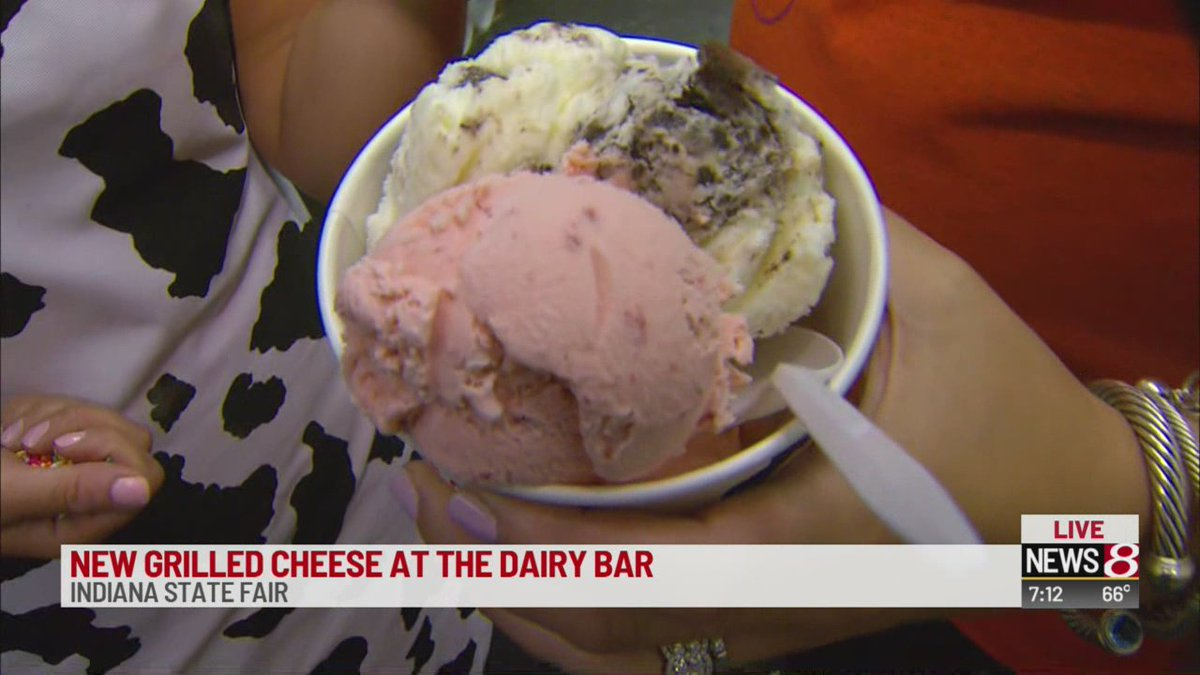 Between the ice cream and the butter wheel, @EmilyKinzer8 wins &quot;live-assignment-of-the-day&quot; award for #daybreak8 today! @IndyStateFair #DairyBar @INDairy<br>http://pic.twitter.com/SargUV64nW