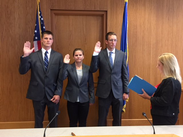 The West Hartford Police Department is pleased to welcome our three newest police officers who started the police academy on August 3rd. L-R being sworn in at the Town Clerks Office: Steven J. Dickman, Victoria Markow &amp;  Zachary Kaesmann. <br>http://pic.twitter.com/V8SmBz3Iqs