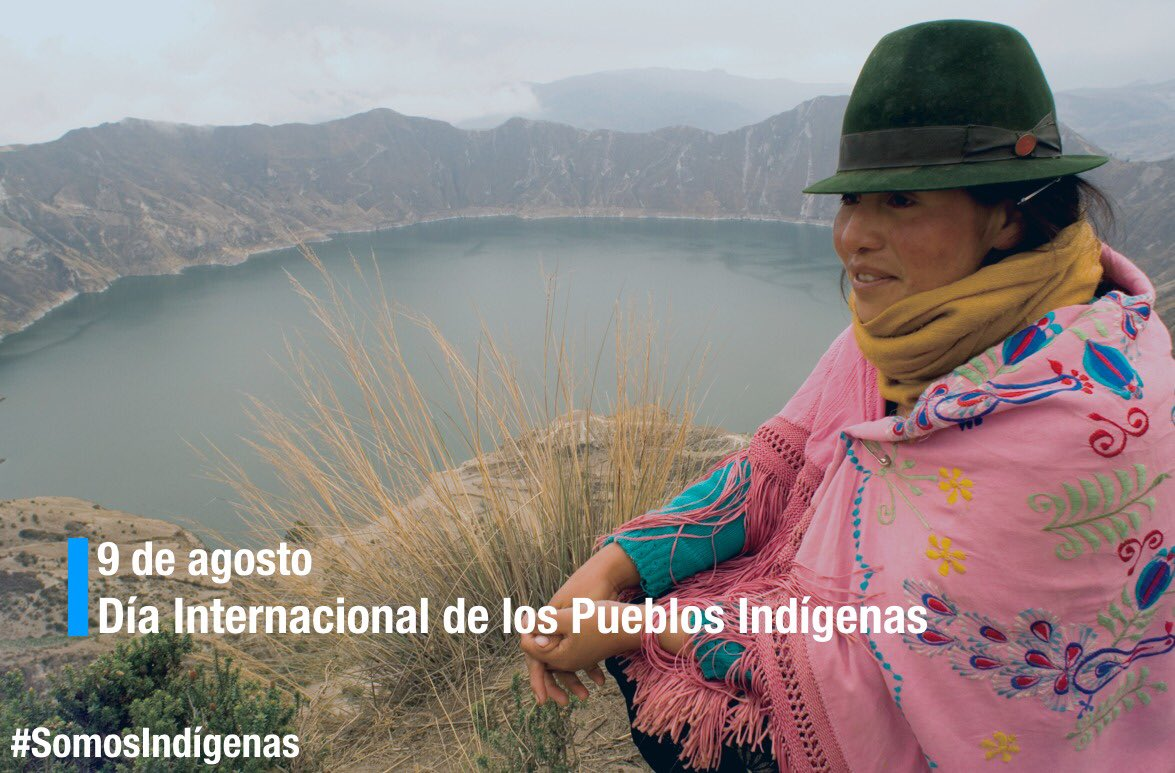 En el #DíaPueblosIndígenas del Mundo redoblemos nuestros esfuerzos para asegurar sus derechos dentro y fuera de sus territorios ancestrales. #SomosIndígenas