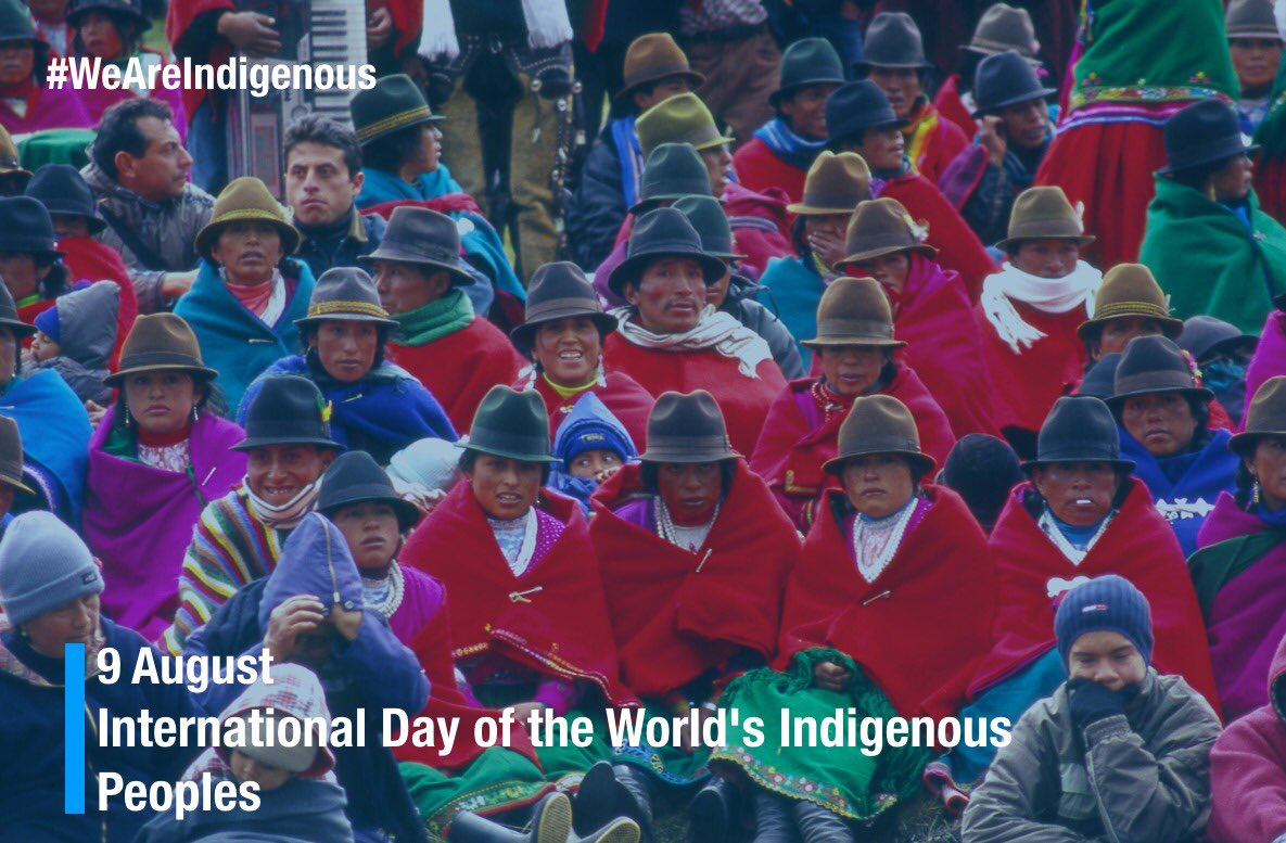 On the #IndigenousPeoplesDay let's step up our efforts to ensure their rights, in and outside their ancestral territories #WeAreIndigenous.