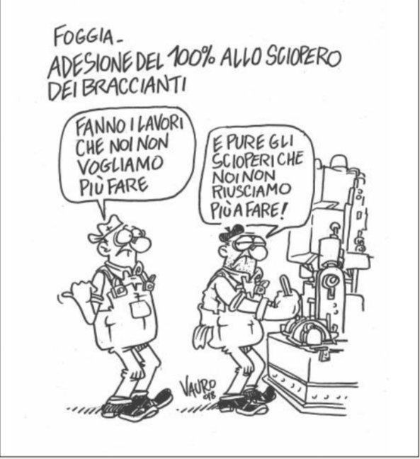 Un pò ha ragione #Vauro (su #ilFattoQuotidiano) ma le cose stan cambiando.#Foggia #migranti #braccianti #mundo #Monde #sapevatelo #world #Italia #politica #governo  - Ukustom