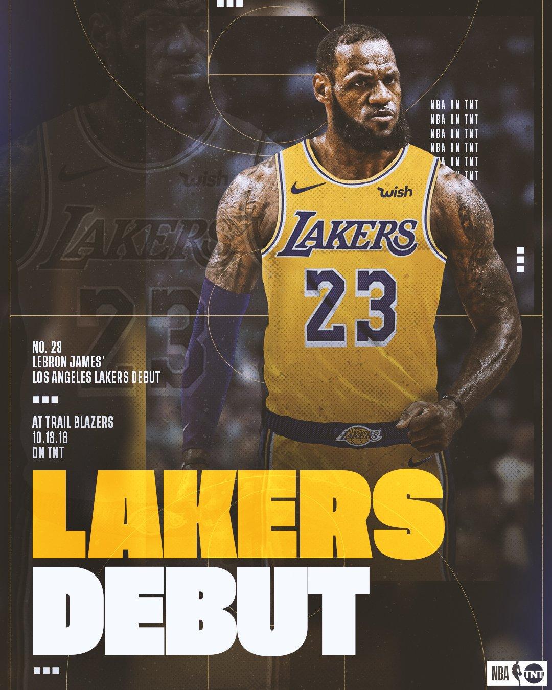 ICYMI: @KingJames will make his @Lakers debut on TNT! ���� https://t.co/wsoizwdwiz