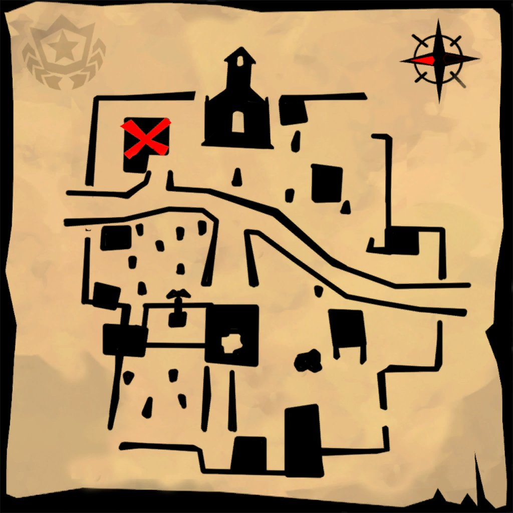 How to solve the &quot;Follow the treasure map found in Snobby Shores&quot; challenge for Week 5: <br>http://pic.twitter.com/NS0psNgu1o