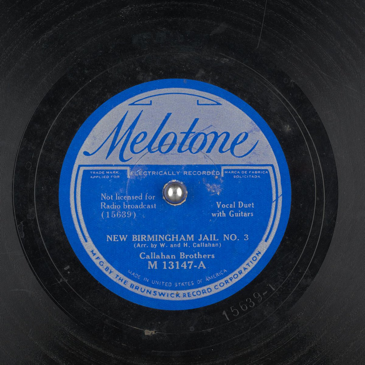 Today&#39;s #Alabama 78 Record: &quot;New #Birmingham Jail no.3&quot; by the Callahan Brothers Recorded Aug 16, 1934  http:// tinyurl.com/y9s7j6vb  &nbsp;    #bham #bhm <br>http://pic.twitter.com/dyEH8hSfgB