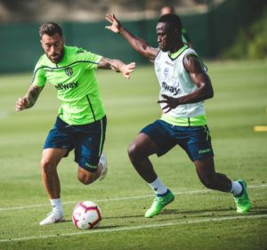 Emmanuel Boateng resumes UD Levante training after injury recovery Foto