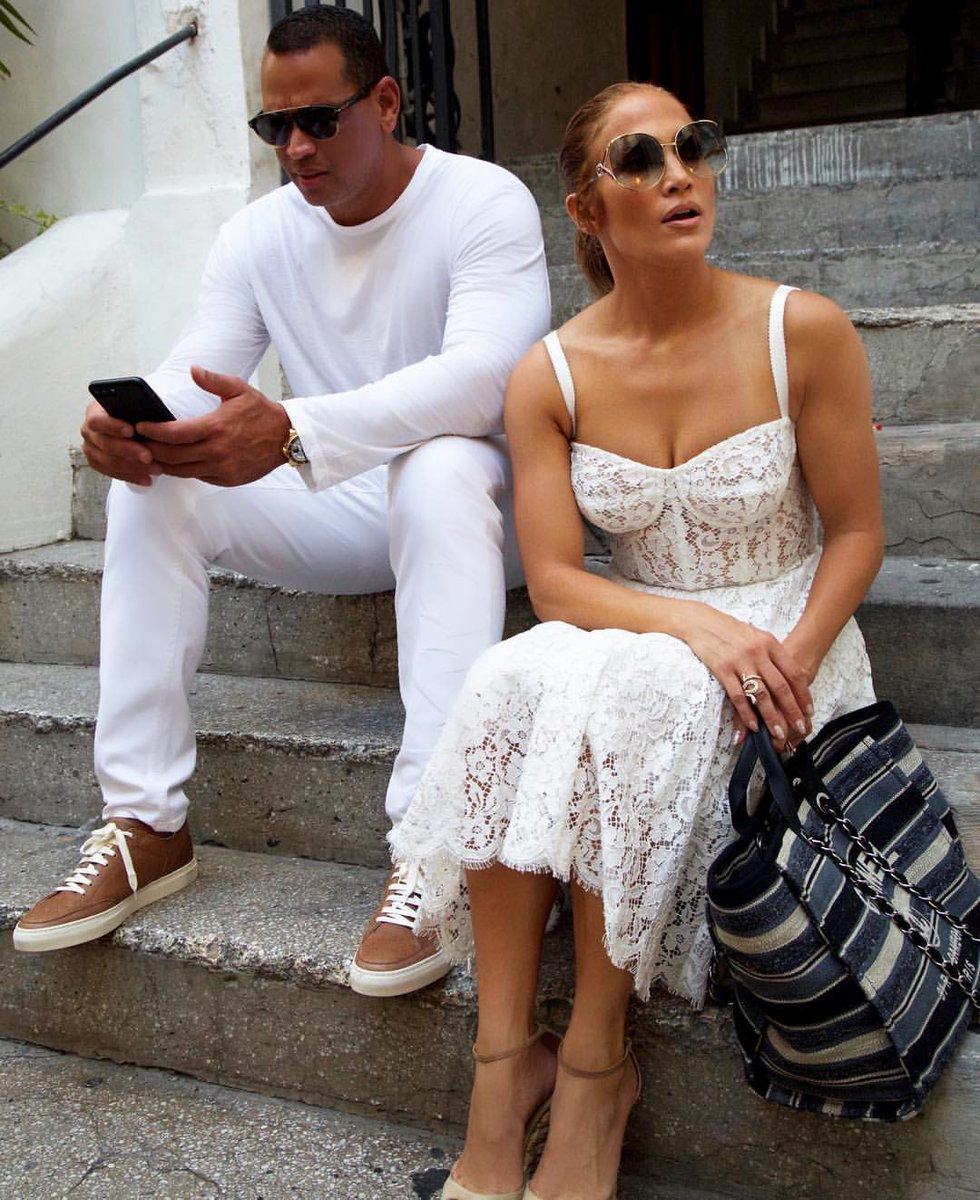Jennifer Lopez wearing Dolce&Gabbana in Capri. #DGWomen #DGCelebs @JLo
