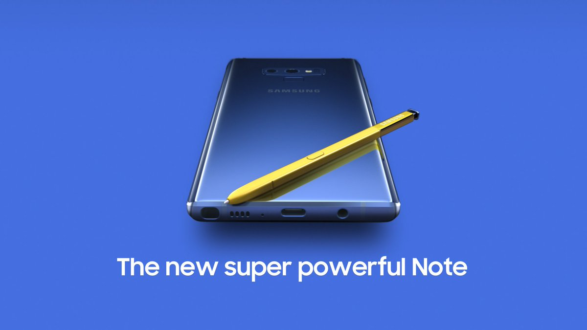 Introducing mobile power, unlike any other. Meet the new #GalaxyNote9.  Learn more: http://smsng.co/N9_ift