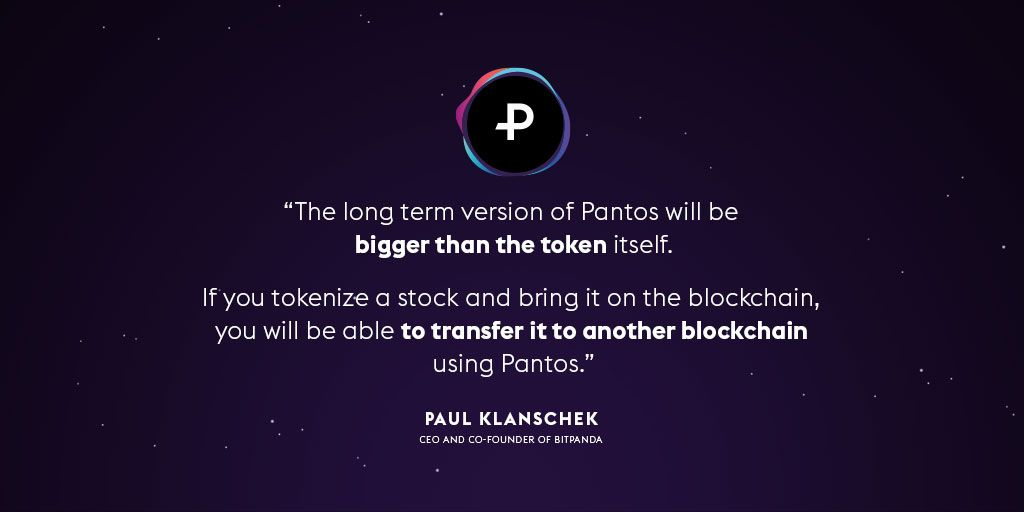 Paul Klanschek (@TwinWinNerD), Bitpanda CEO and co-founder, on his long-term vision for Pantos and it's potential. Full article with @derbrutkasten (DE): derbrutkasten.com/pantos-token-b… #pantos $PAN