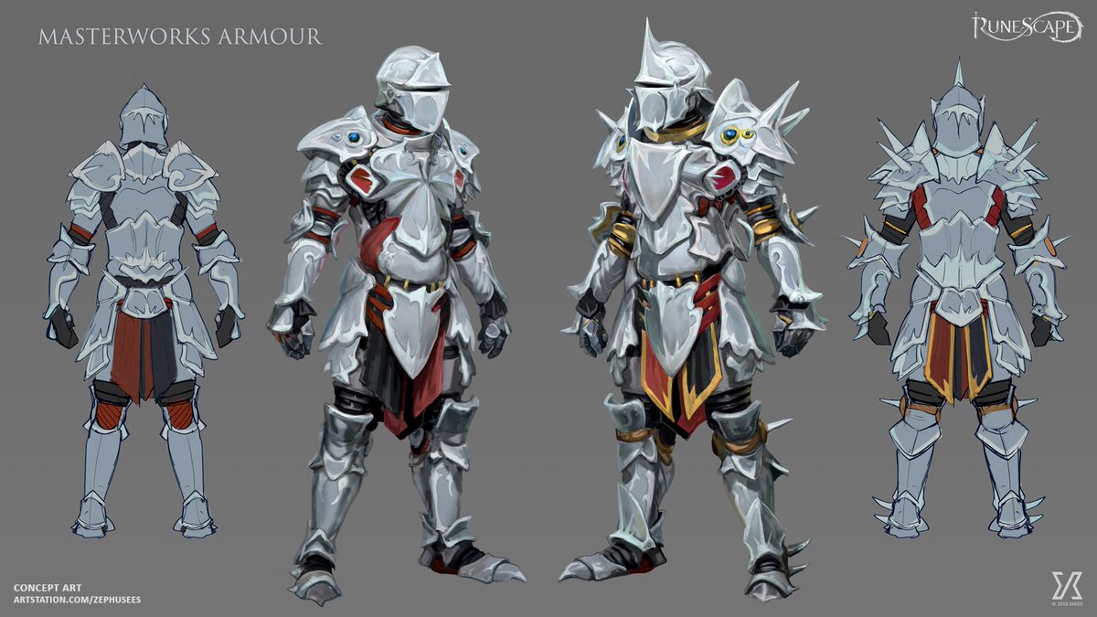 Runescape On Twitter Conceptart Masterworks Set A Spiky Piece