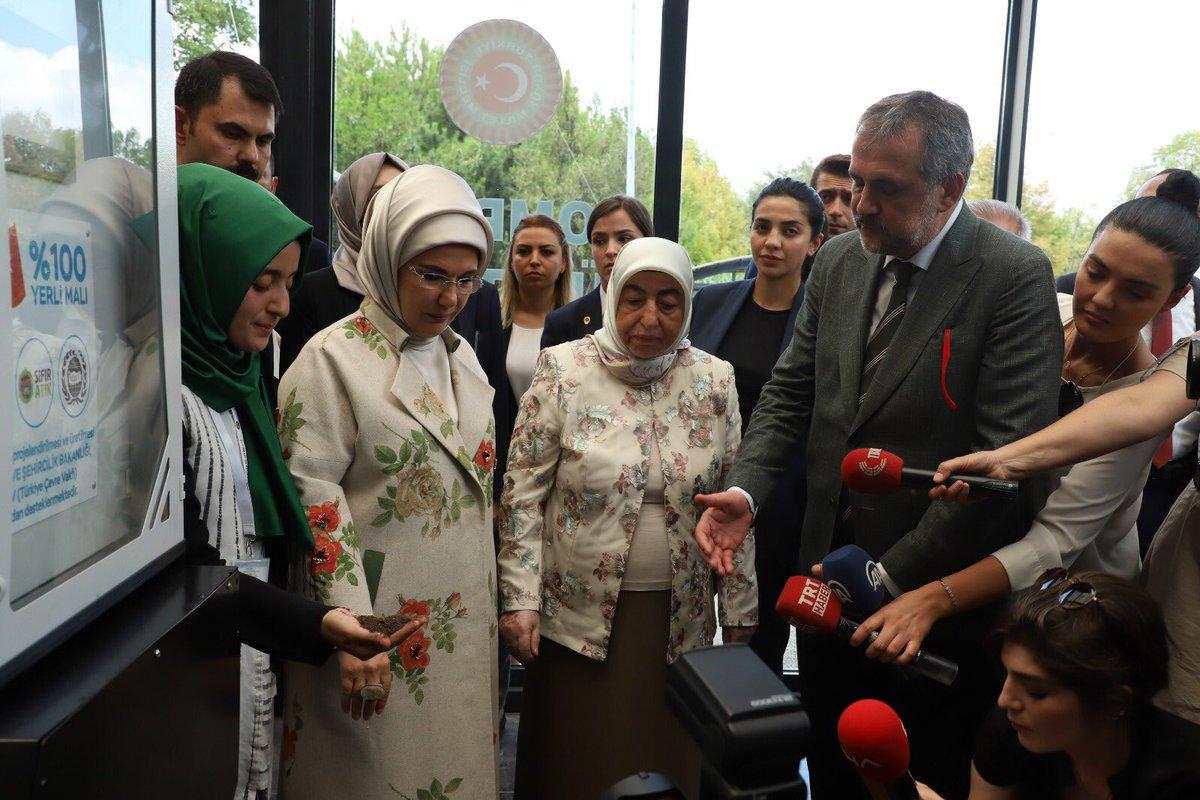 Emine Erdoğan Sıfır Atık çalışmalarını inceledi