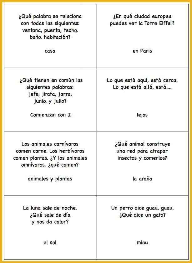 photograph about Printable Trivia called Spanish Playground upon Twitter: \