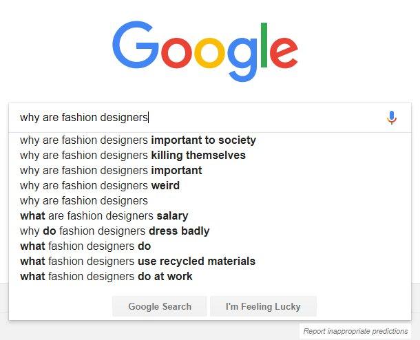 Purushu Arie On Twitter Why Do Fashiondesigners Dress Badly Shm Googlepredictions
