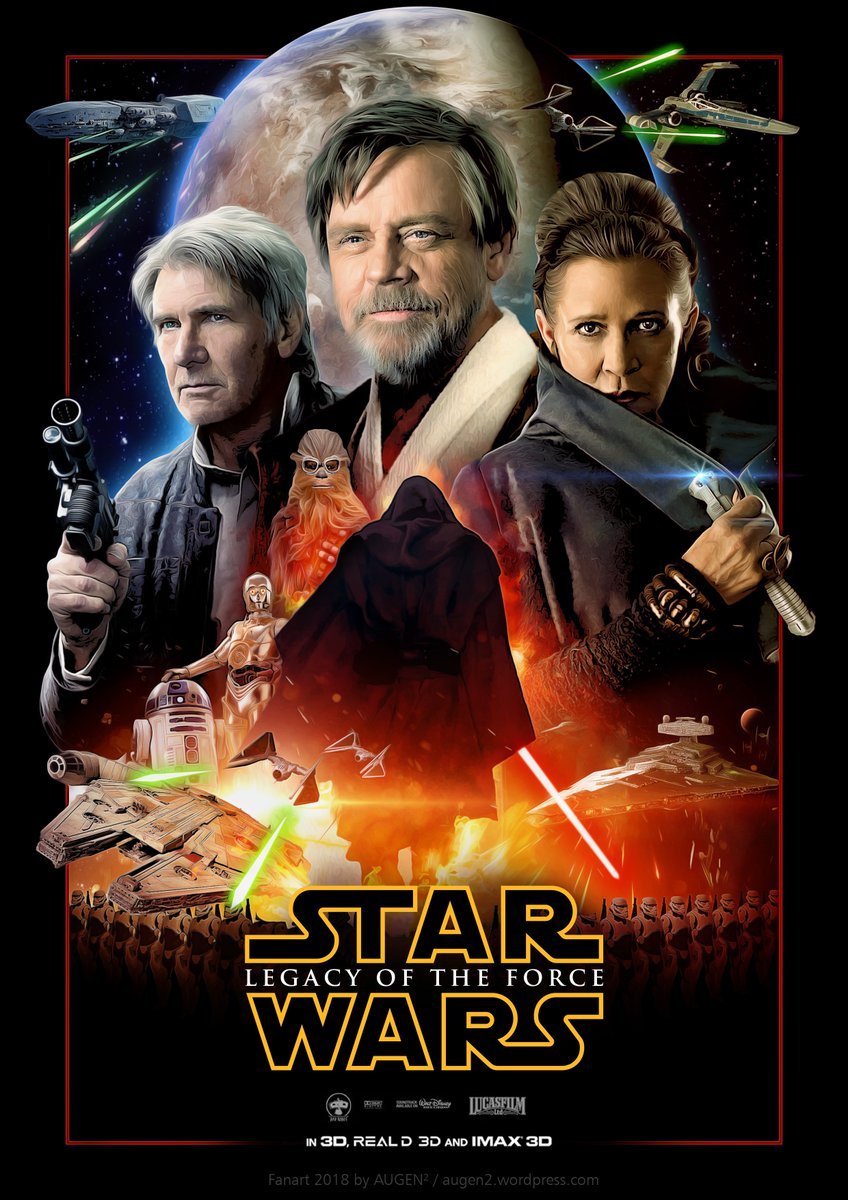 I like the #StarWars sequels as they are, but I just couldn&#39;t resist to make a poster for what I imagined them to be. Hope you like it.  Credits go out to Darren Tan and Ansel Hsiao.  @HamillHimself #Fanart @SW_ArtGallery @TheSWU @StarWarsCntdwn @Starwarslife1<br>http://pic.twitter.com/2rF74swkkV