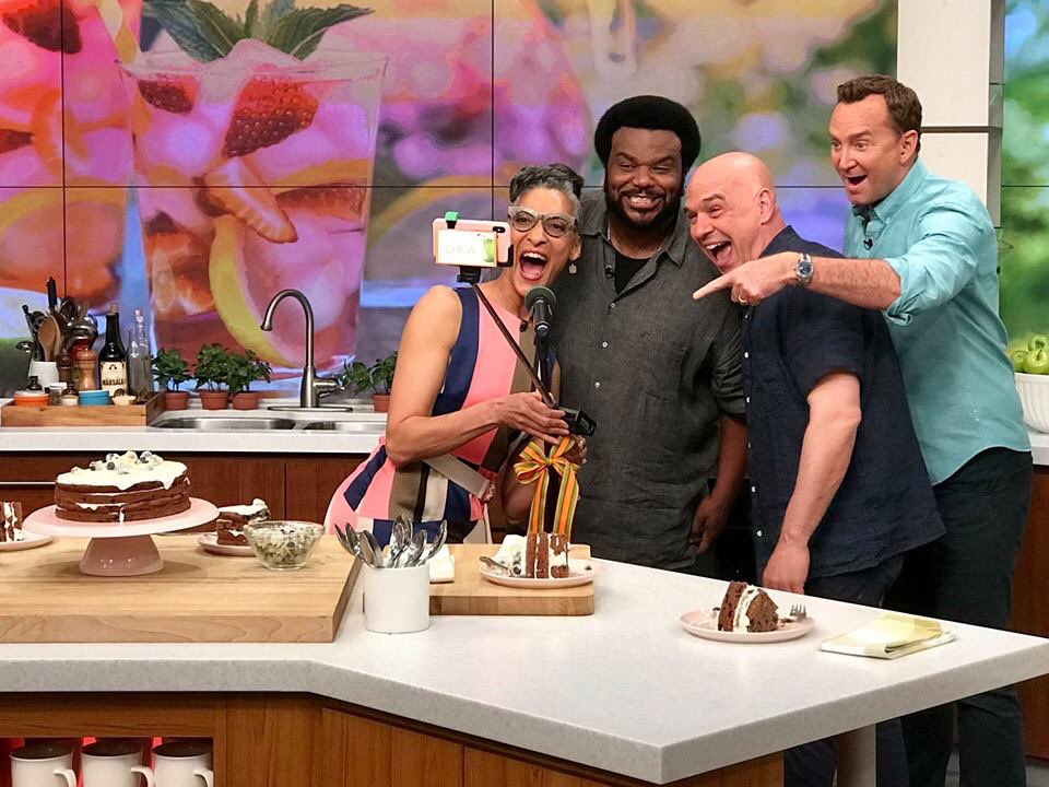 Today were throwing it back to when the hilarious @MrCraigRobinson was on #TheChew. Plus, we have tons of recipes for the perfect outdoor party. Dont miss it! #TBT