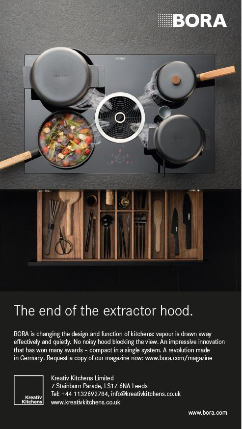 Why settle for anything less than a #Bora.  Pop into the studio today to see the Bora downdraft in full flow #Bora #downdraft #extraction #cooking @BORAGmbH @KreativKitchens #Leeds #kitchens #Premiumkitchens