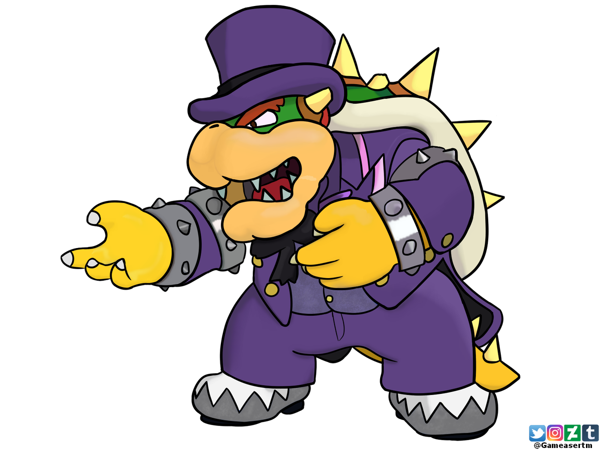 Gameasertm On Twitter Finished Drawing Of Bowser In His
