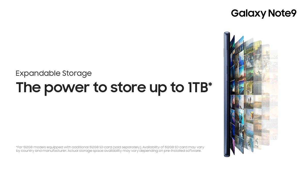 Less is a bore. Start with 128GB – and keep adding more. #GalaxyNote9. <br>http://pic.twitter.com/1hP8WHyLSS