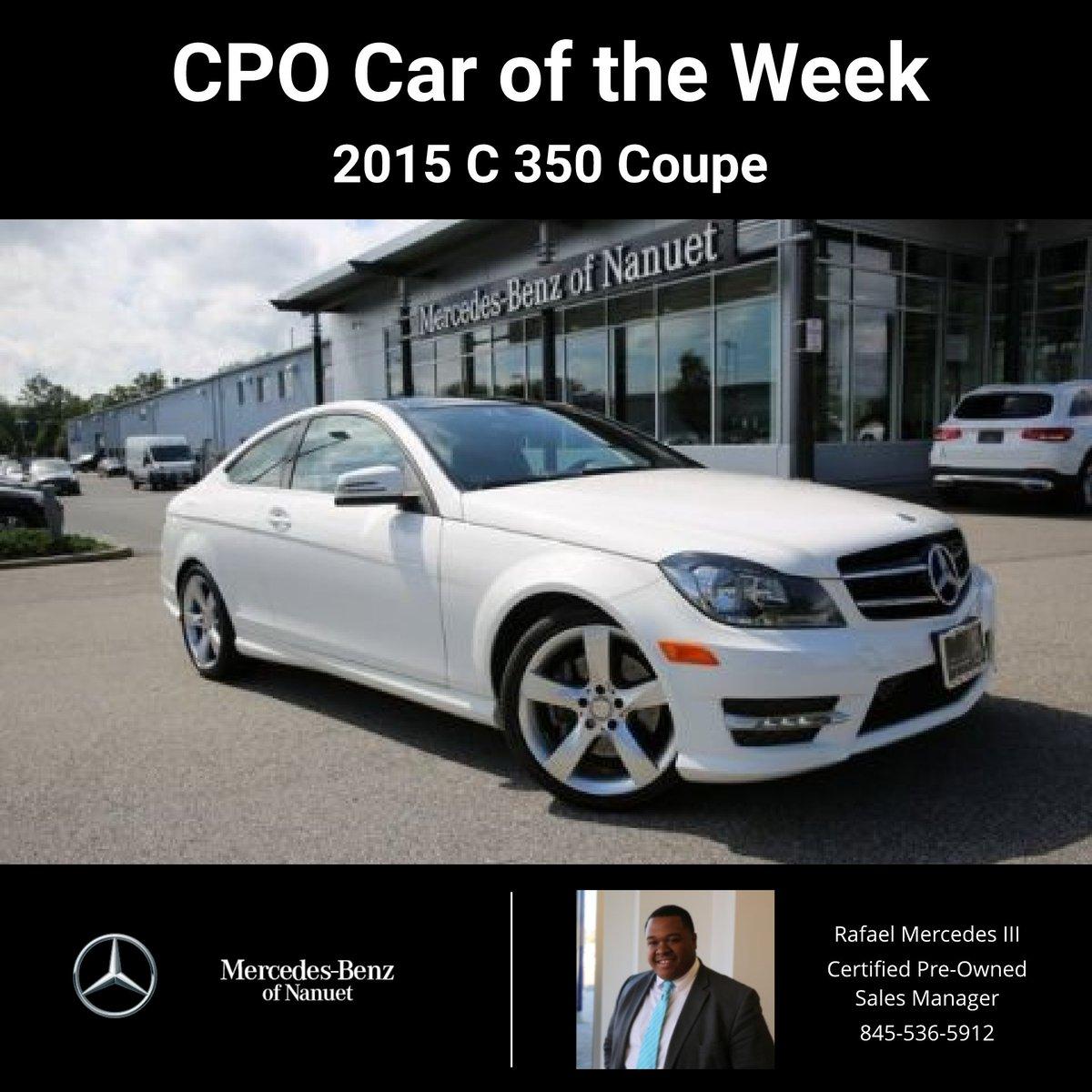 #MercedesBenz #MBUSA #CarofTheWeek #MBNanuet #Nanuet #C350 #Coupe  Http://ow.ly/QWOH50ibTfE Pic.twitter.com/Nlvctyp1jp