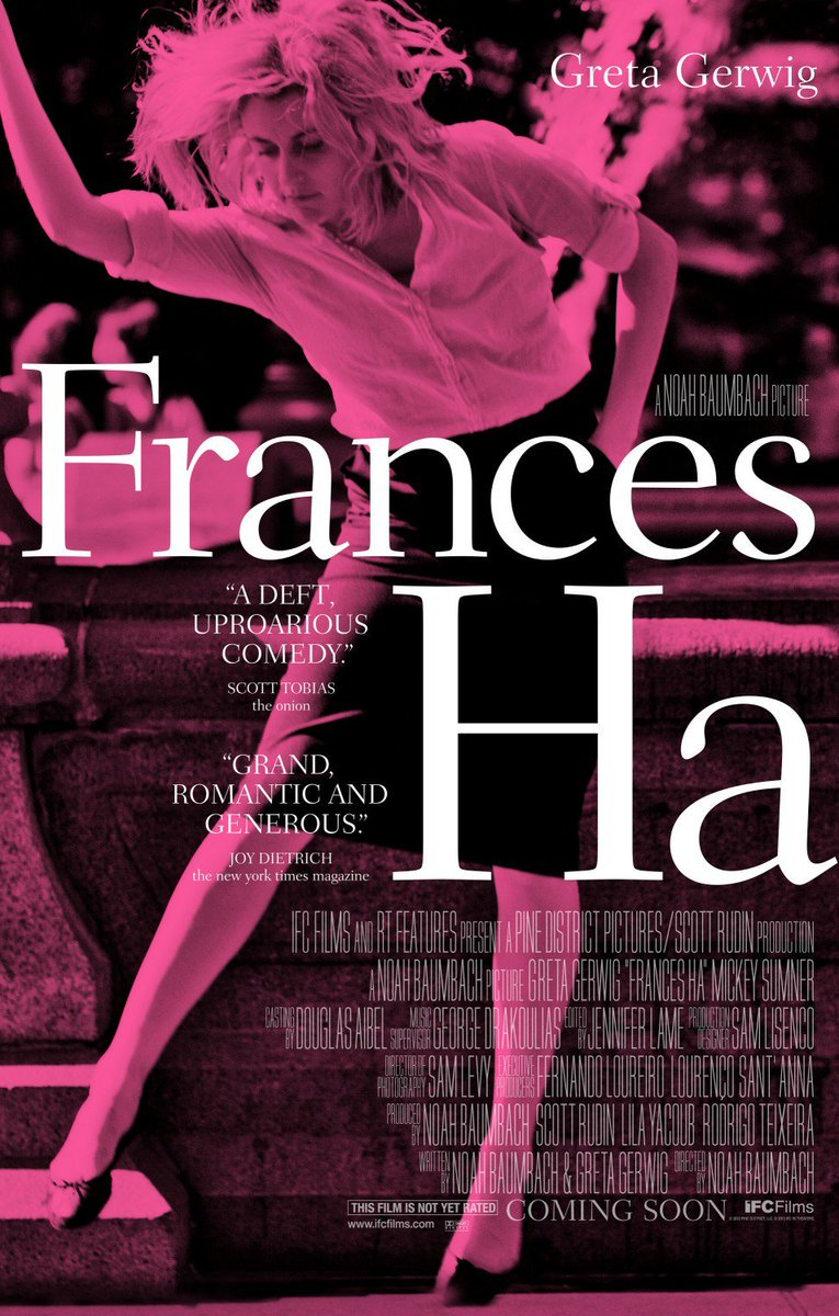 59. Frances Ha (2012): us black and white comedy-drama film dir. by Noah Baumbach and starring Greta Gerwig (who also co-wrote it). The awkwardness and the worries of the main character are really relatable. This also reminds me of the French New Wave, like a Godart-inspired film <br>http://pic.twitter.com/sZnKI4wRlu