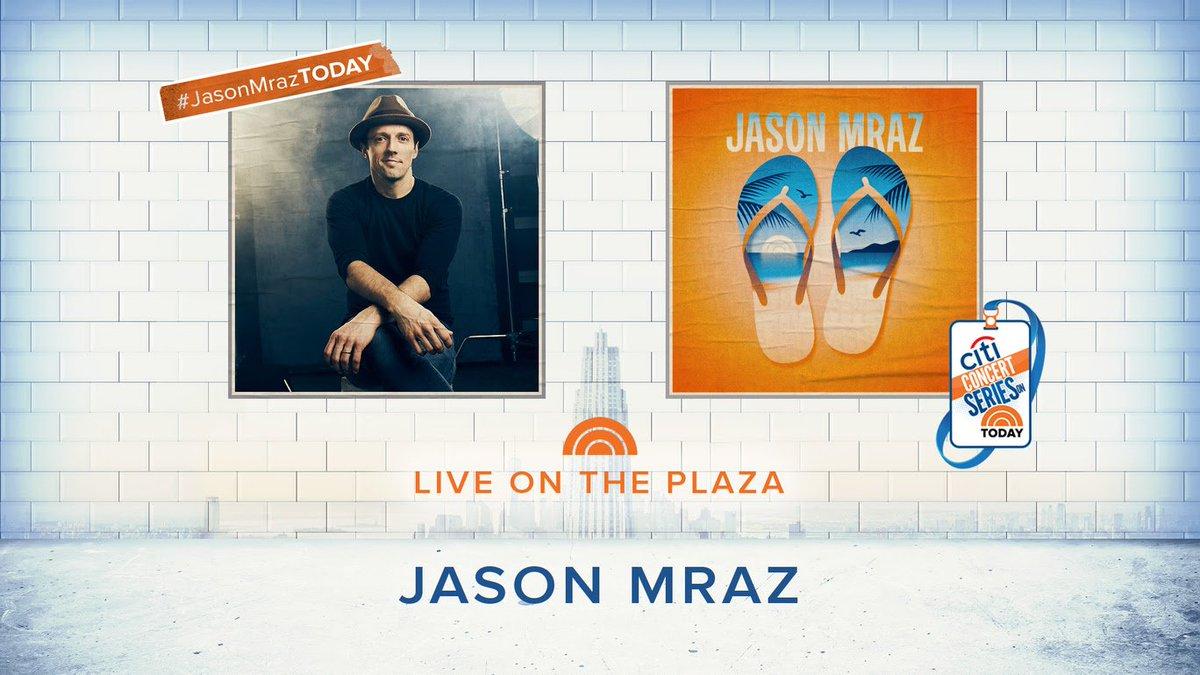 Make sure to #Shazam  @jason_mraz&#39;s @TODAYshow performance tomorrow morning!!  #JasonMrazTODAY <br>http://pic.twitter.com/VSb2Kjgwxb