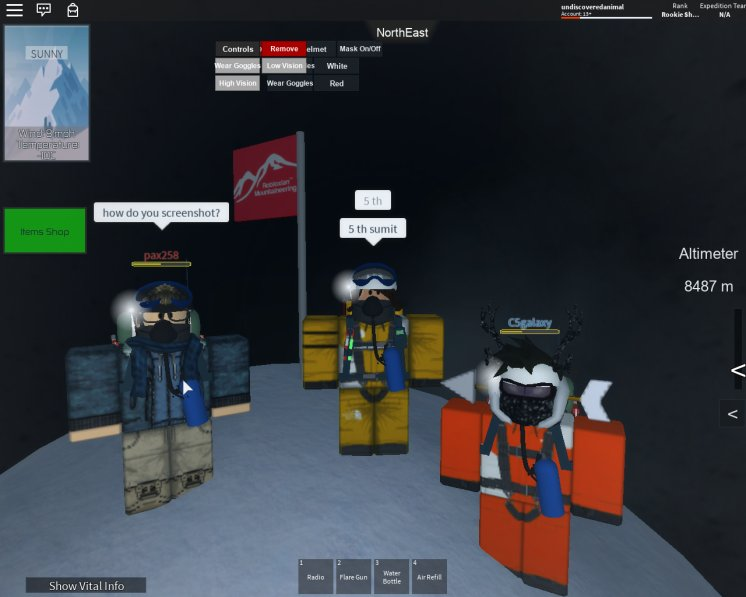 Rbx Mountaineering At Rbxmountaineerz Twitter - mount everest roleplay roblox badges list