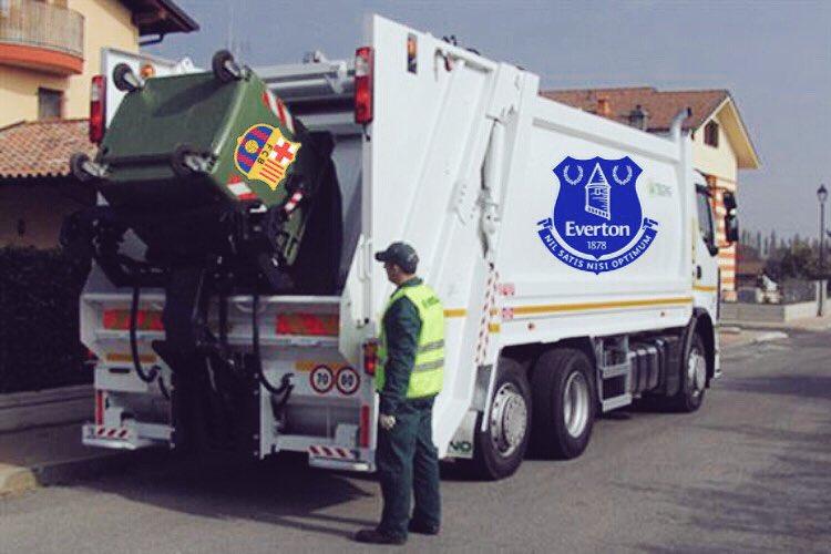 Yerry Mina, Lucas Digne y André Gomes al Everton.