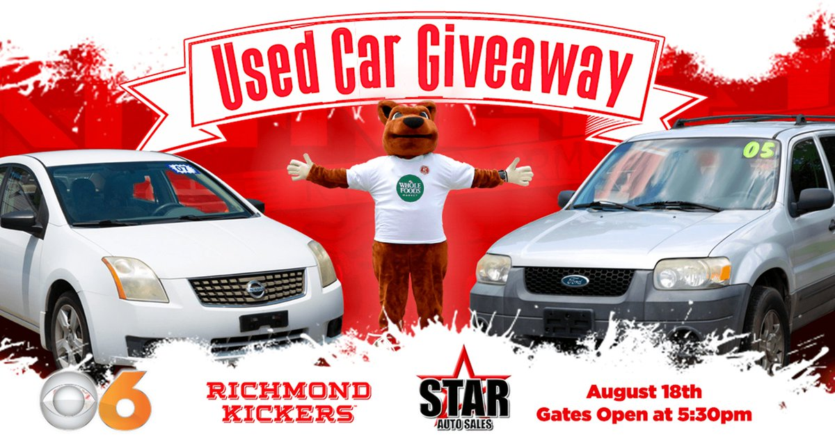 Giveaway Auto Sales >> Richmond Kickers On Twitter Want To Win A Used Car August
