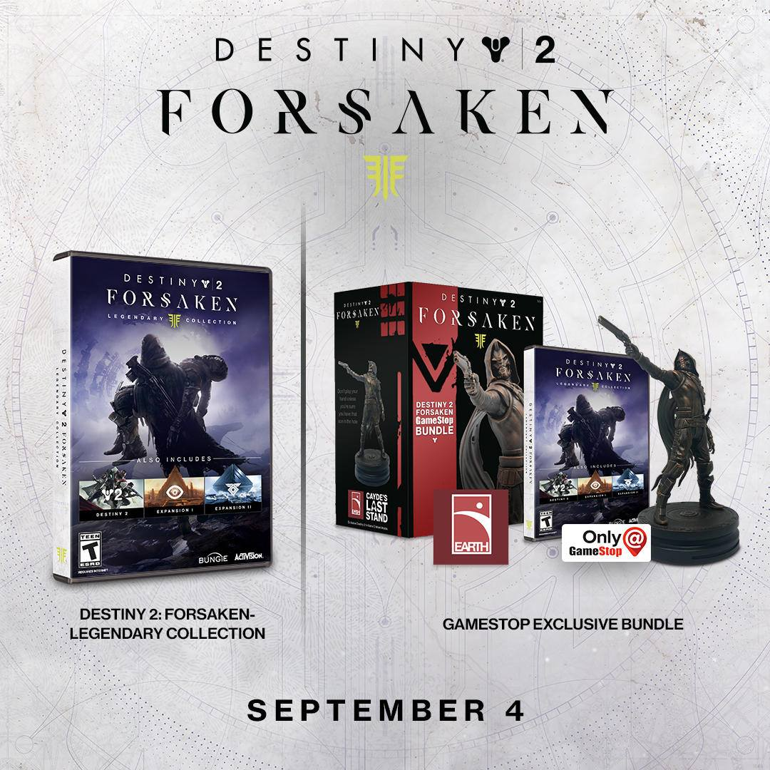 95e7b7629ff Eight worlds to explore. One Legendary Collection. Grab the The Destiny 2   Forsaken - GameStop Bundle which includes the