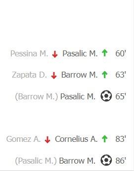 Vorreste dirci che #Pasalic e #Barrow sono da prendere e da schierare anche quando sono dati partenti in panchina??? #aspettandolasta#HapoelAtalanta #EuropaLeague#fantacalcio #Fantanine  - Ukustom
