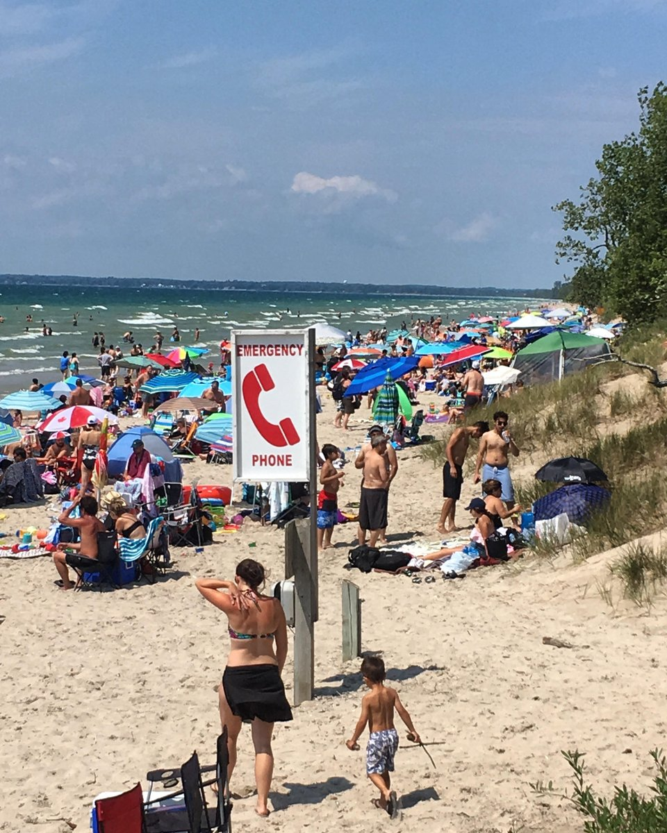 Very busy day today at Lakeshore Beach. Please be careful and keep an eye on your little ones! :)