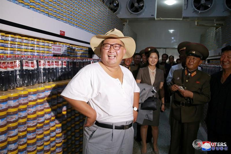 North Korean leader Kim Jong Un visits a factory
