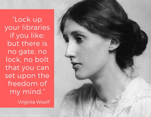 """""""As a woman, I have no country. As a woman, my country is the whole world."""" -- Virginia Woolf. #BookLoversDay <br>http://pic.twitter.com/qJQyTp2QlS"""