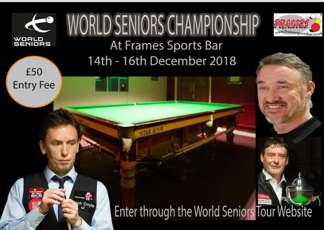 BREAKING NEWS!!!!! World Seniors Qualifiers to be held at frames sports bar from December 14th-16th. Click the link below for all the information! m.facebook.com/story.php?stor…