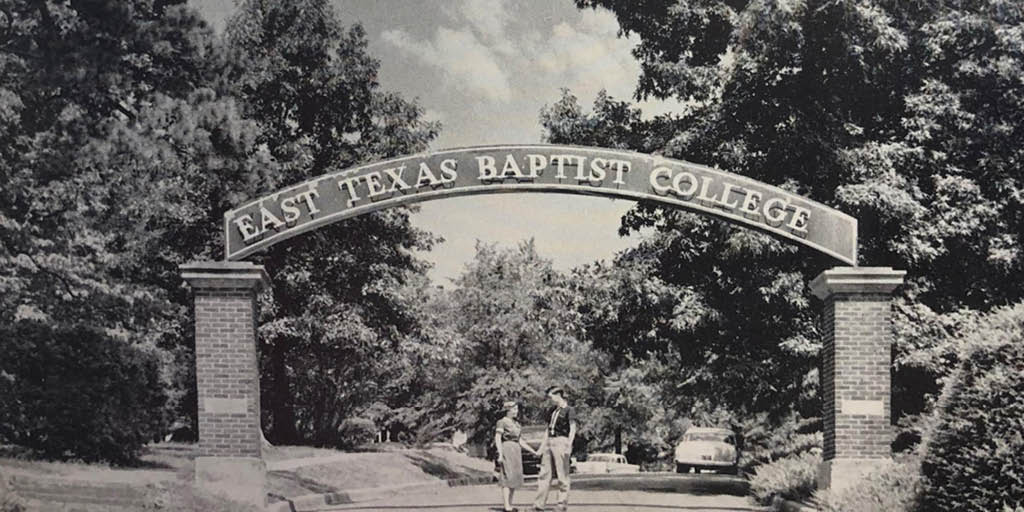 East Texas Baptist On Twitter Tbt To The Etbc Archway In 1959