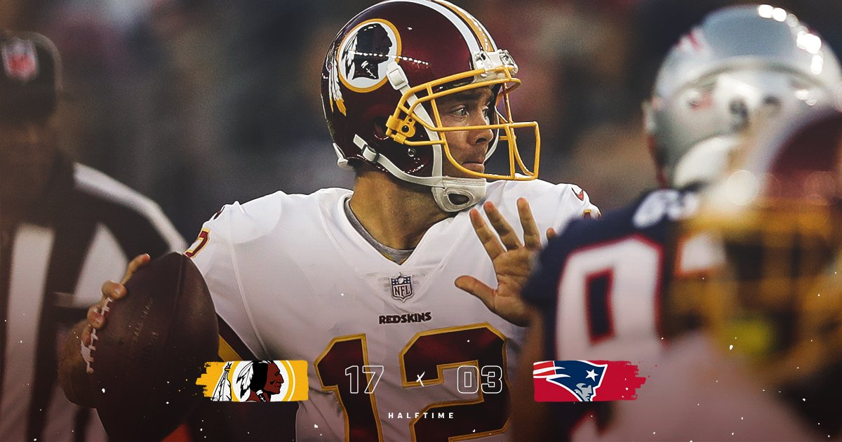 #Redskins take a 14-point lead into the break. #HTTR  #WASvsNE <br>http://pic.twitter.com/YYJ2HFHyYq