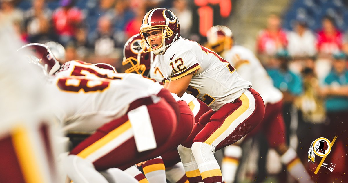 13-for-18, 189 yards, 2 TDs. Solid night for @ColtMcCoy.  #HTTR  #WASvsNE <br>http://pic.twitter.com/inz5FX1PXP