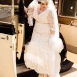 Image for the Tweet beginning: Here's our beautiful bride, Jacqueline