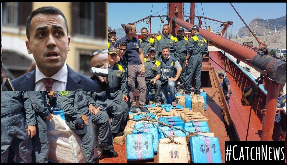 """#Palermo Sequestrata nave con 20 tonnellate di Hashish. Di Maio: """"Se la nave si trova in acque italiane è roba nostra"""".#Hashish #Sequestro #Cronaca #Droga #Traffico #News #CatchNews #Premier #DiMaio #Salvini #9agosto #Lercio #Spinoza #GeneGnocchi #Crozza #Luttazzi #Nave #Ansia  - Ukustom"""