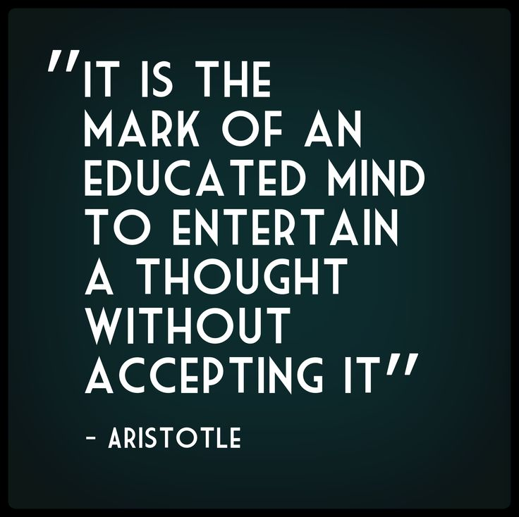"""nope aristotle did not say """"it is the mark of an educated mind"""